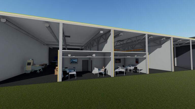 Разрез здания 2 - Jordi Stockoffice - Ehitusfirma Rand ja Tuulberg AS