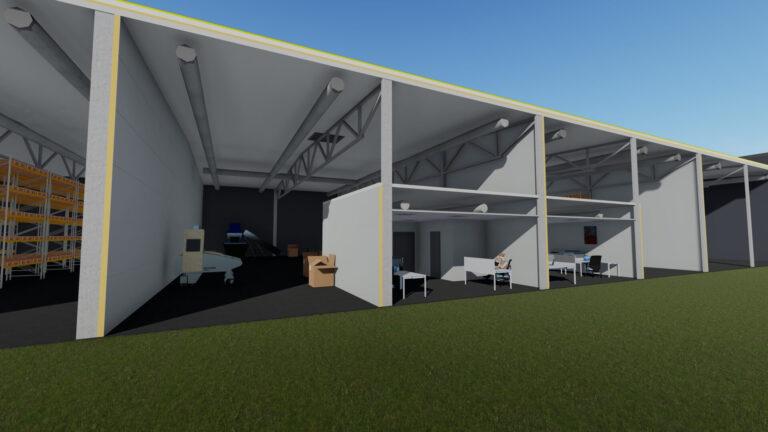 Разрез здания 3 - Jordi Stockoffice - Ehitusfirma Rand ja Tuulberg AS