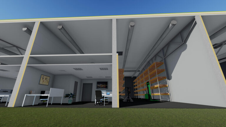 Разрез здания 4 - Jordi Stockoffice - Ehitusfirma Rand ja Tuulberg AS