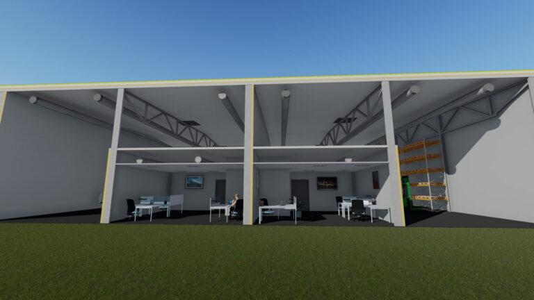 Разрез здания - Jordi Stockoffice - Ehitusfirma Rand ja Tuulberg AS